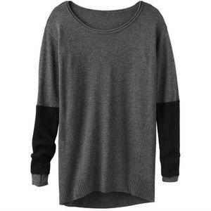 Athleta Nopales Merino Gray Black Sweater